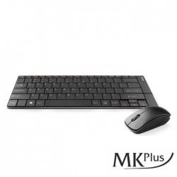 Teclado Ultra Slim Recarregável + Rato Wireless 1200DPi S/Fios - MKPlus