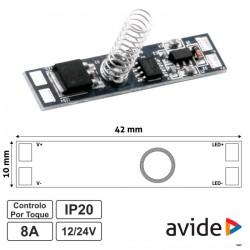 Controlador Mini Sensor Touch Para Fita De Leds 12-24v 8a - Avide