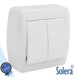 Interruptor Parede Duplo 10a 250v - Solera