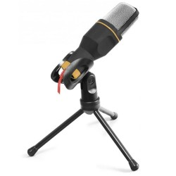 Microfone C/ Tripé de Mesa USB - Esperanza
