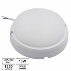 Painel LED 18w 1350lm 6000k Redondo Aplique