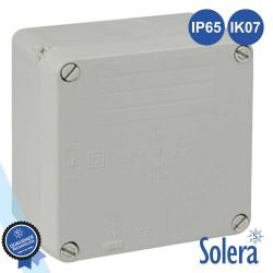Caixa Estanque 100x100x55mm IK07 Lisa - Solera