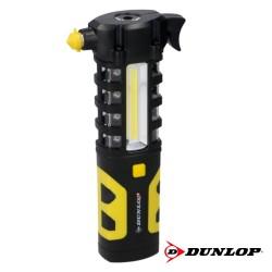 Lanterna 1 Led 3w + Luz Trabalho Iman + Quebra Vidros - Dunlop