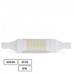 Lampada LED R7s 78mm 6w 4500k 600lm