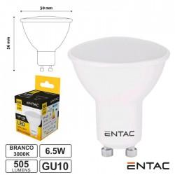 Lâmpada LED GU10 6.5W 230V 3000K 505lm ENTAC