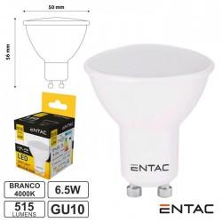 Lâmpada LED GU10 6.5W 230V 4000K 515lm ENTAC
