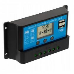 Controlador Carga Solar PWM Usb 12/24v Dc 20a C/ LCD