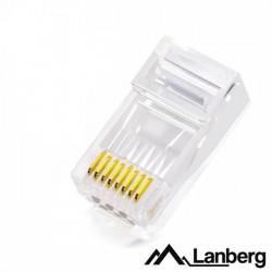 Ficha Telefone - Rede Rj45 Modular 8p8c Cat5e - Lanberg