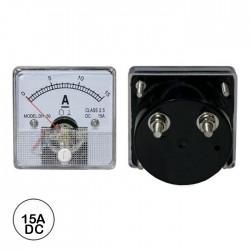 Amperímetro Painel 15A DC Analógico