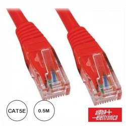 Cabo de Rede Rj45 Utp Cat5E 0.5M Vermelho