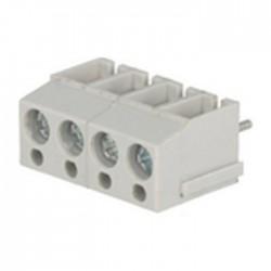 Bloco de 4 Terminais C/ Parafuso (2.5mm²) 5.0mm para PCB - Cinzento
