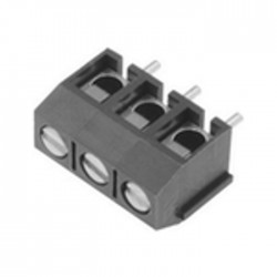 Bloco de 3 Terminais C/ Parafuso (1.5mm²) 5.0mm para PCB - Cinzento