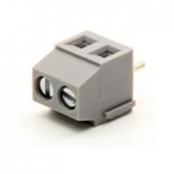 Bloco de 2 Terminais C/ Parafuso (1.5mm²) 3.5mm para PCB - Cinzento