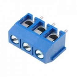 Bloco de 3 Terminais C/ Parafuso (1.5mm²) 5.0mm para PCB - Azul