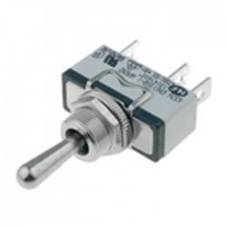 Interruptor de alavanca 1 posição estável - (ON)-OFF-(ON) - 250VAC 10A (3 pinos)