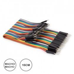Cabos Ligação Macho-Macho (40unid) C/15cm