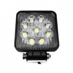 Projector LED 9x 3W 10V-30V IP68 6000-6500k 1600lm Off Road