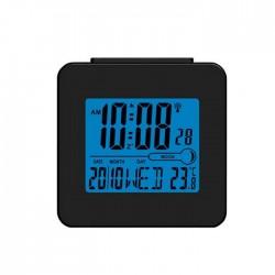 Relógio Despertador AM/FM/Termómetro/Lua (Preto) - DENVER