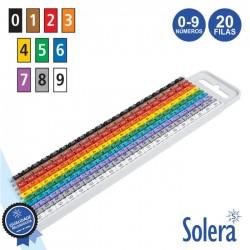 Identificador de Cabos 20 Filas de 0 A 9 1.5-2.5mm² - SOLERA
