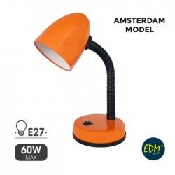 Candeeiro Mesa Amsterdam C/ Sup. E27 Laranja – EDM