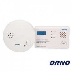 Conjunto Detetores de Monóxido de Carbono e Fumo ORNO