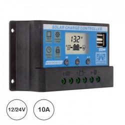 Controlador Carga Solar PWM Usb 12/24v Dc 10a
