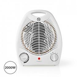 Aquecedor c/ Ventilador/Temporizador 2000W White - Nedis
