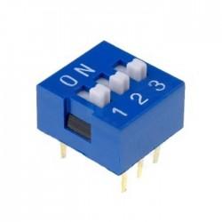 Interruptor Dip (DIP-switch) 3 Vias On-Off Azul