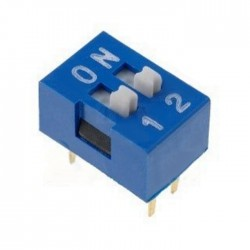 Interruptor Dip (DIP-switch) 2 Vias On-Off Azul