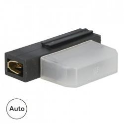 Porta Fusivel Faston 19mm Auto Transparente