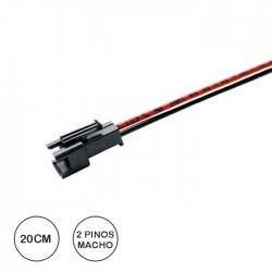 Ficha Rs 2.5mm 2 Pinos Macho C/ Cabo 20cm de Fio