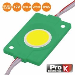 Modulo Led C/ 1 Led Cob Verde 2.4w 120lm 12V IP65 - Prok