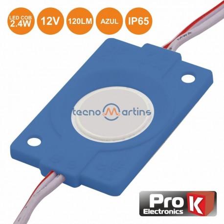 Modulo Led C/ 1 Led Cob Azul 2.4w 120lm 12V IP65 - Prok
