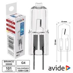 Lampada Halogéneo G4 12v 10w»13w 101lm - Avide