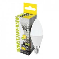 Lâmpada LED E14 C37 230V 8W 3000K (Branco Quente) 720lm - LED-POL ORO-E14-C37-TOTO-8W-WW