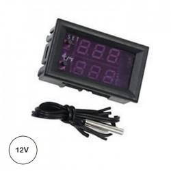 Termostato Digital 12v C/ Besouro + Sonda NTC (-50º..110ºC)