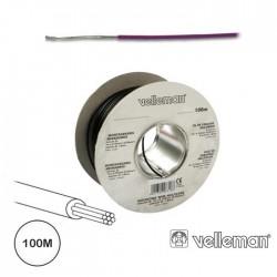 Cabo Multifilar Violeta 0.20mm Rolo 100Mt Velleman