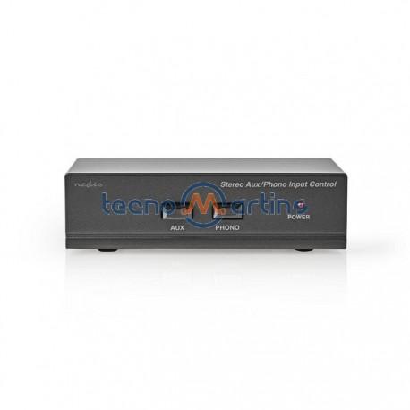 Pré-amplificador estéreo (phono) para gira-discos + AUX
