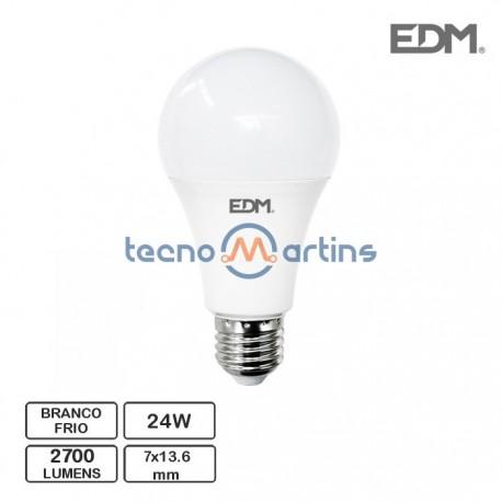 Lampada LED E27 24W 2700Lm 6400K Branco Frio - EDM