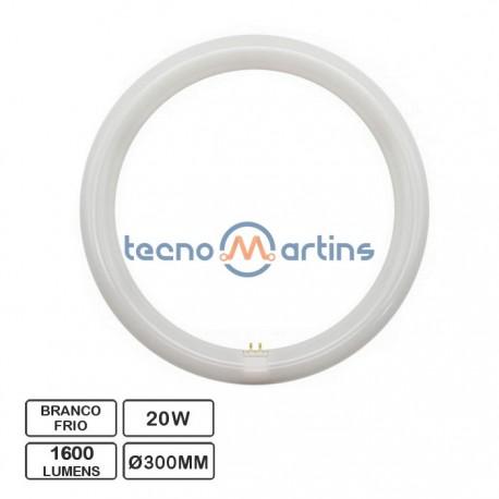 Lâmpada LED Circular G10Q 230VAC 20W 6500K Ø300mm