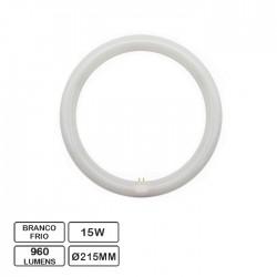 Lâmpada LED Circular G10Q 230VAC 15W 6500K Ø215mm