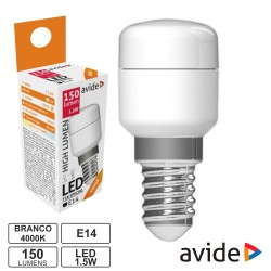 Lâmpada LED E14 G45 230V 8W 3000K (Branco Quente) 720lm