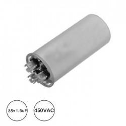 Condensador P/ Ar Condicionado 35uf + 1.5uf - 450v