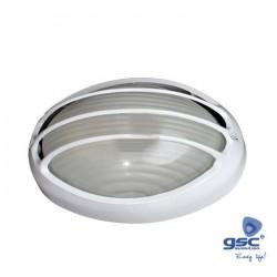 Aplique E27 Semi Oval Alumínio 60w Branco - GSC