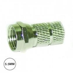Ficha F 5.5mm (RG58) C/ 1 O-Ring
