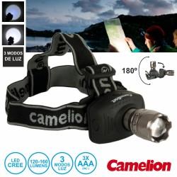 Lanterna De Cabeça 1 LED 120-160lm Zoom