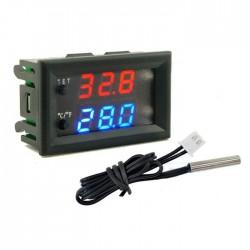 Termostato digital 12V (-50..110ºC) c/ besouro e sonda NTC