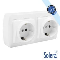 Tomada Eletrica Dupla Superficie C/ Terra - Solera