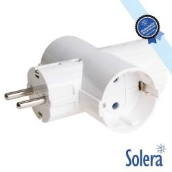 Ficha Elétrica Tripla C/ 3 Saídas Schuko - Solera