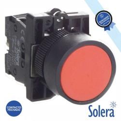 Pulsador C/ Retorno 230v NF 6kV Vermelho - Solera